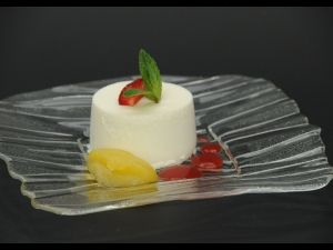 Mousse de iogurt de La Fageda i crumble de fajol
