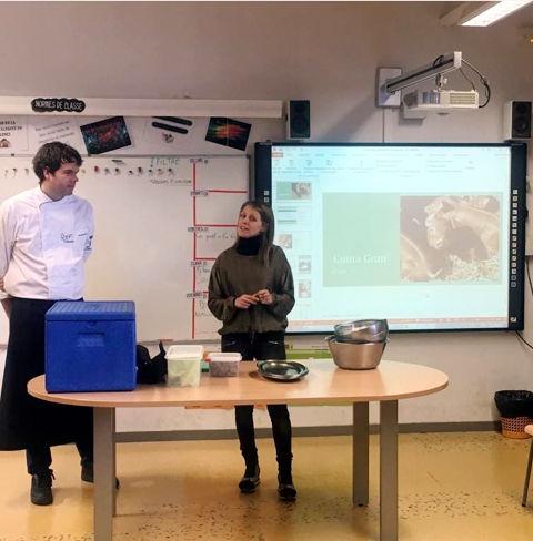 Cuina Volcànica visita les escoles de la Garrotxa